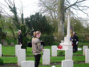 Lone piper at Codford Dawn Service