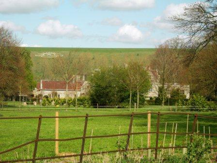 Rising Sun Badge - Lamb Down, Codford