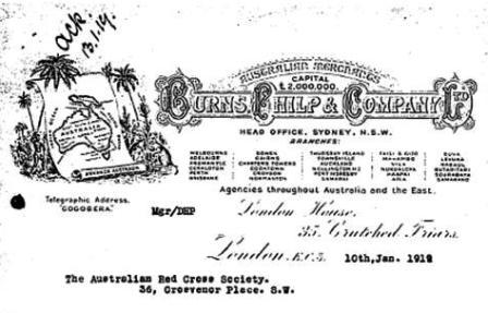 Burns Philp Company Letterhead