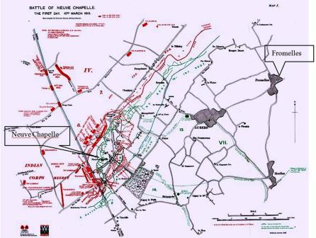 Fromelles Map 3_Sml Battle of Neuve Chapelle