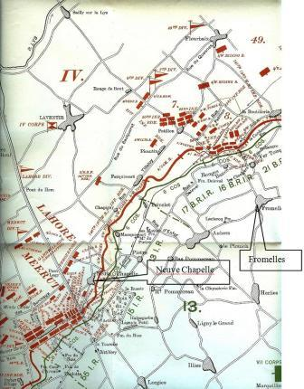 Fromelles Map 4_Sml The Battle of Aubers Ridge