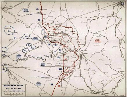 Fromelles Map 6_sml British gains in the Battle of the Somme