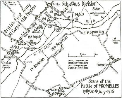 Fromelles Map 8_sml The Battle of Fromelles